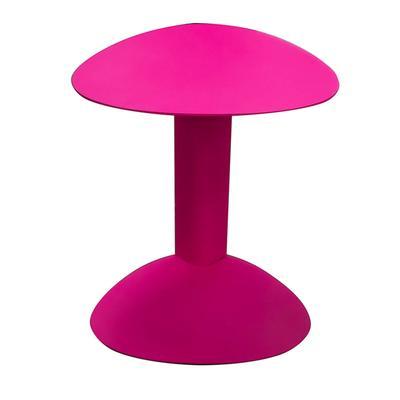 Pink Cantera Iron Base Sofa Table