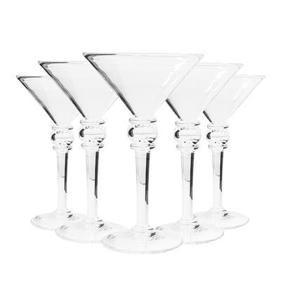 Set of 5 Simon Pearce Hartland Martini Glasses