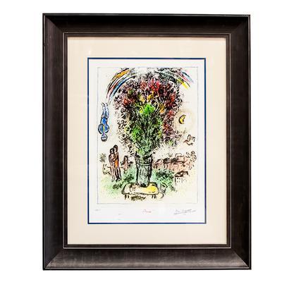 Chagall Bouquet Print