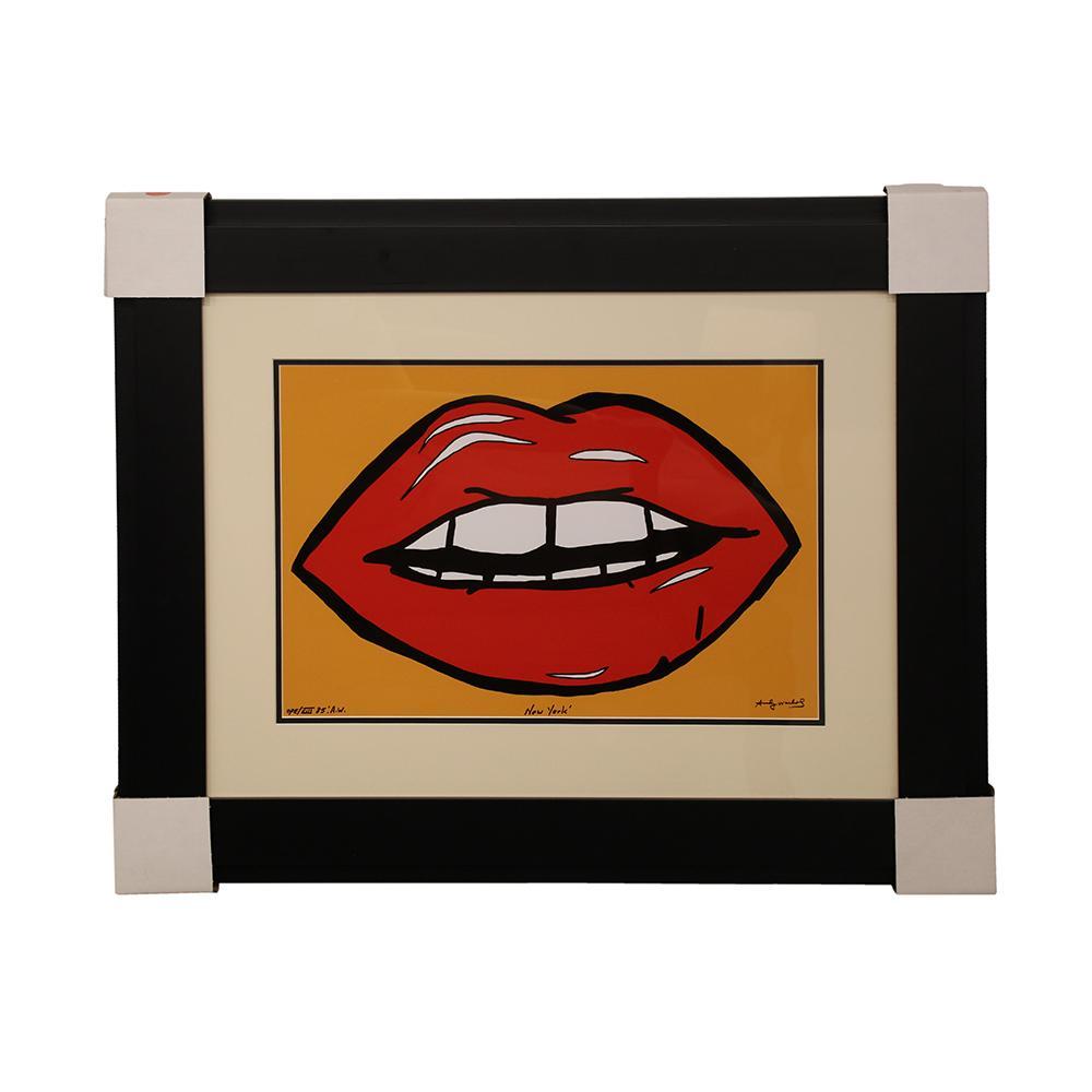 Andy Warhol ' Lips ' Print