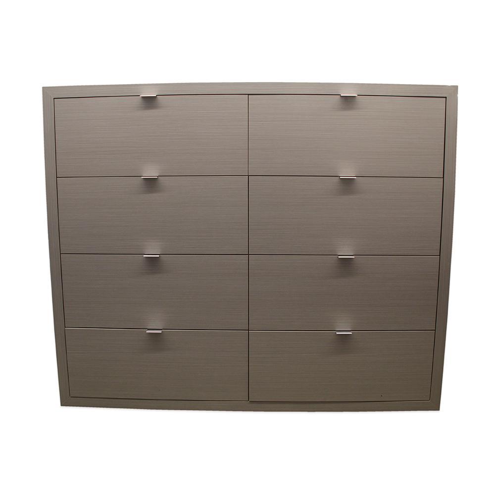 8 Drawer Grey File Cabinet