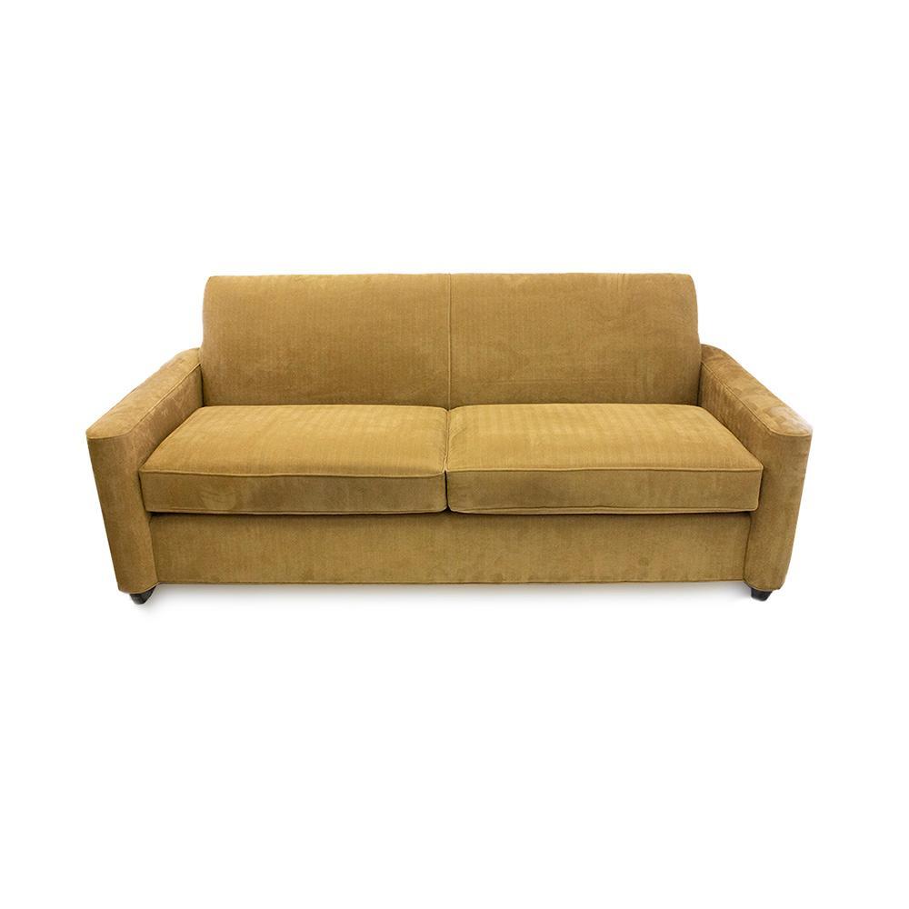 Crate & Barrel Tan Fabric Sofa