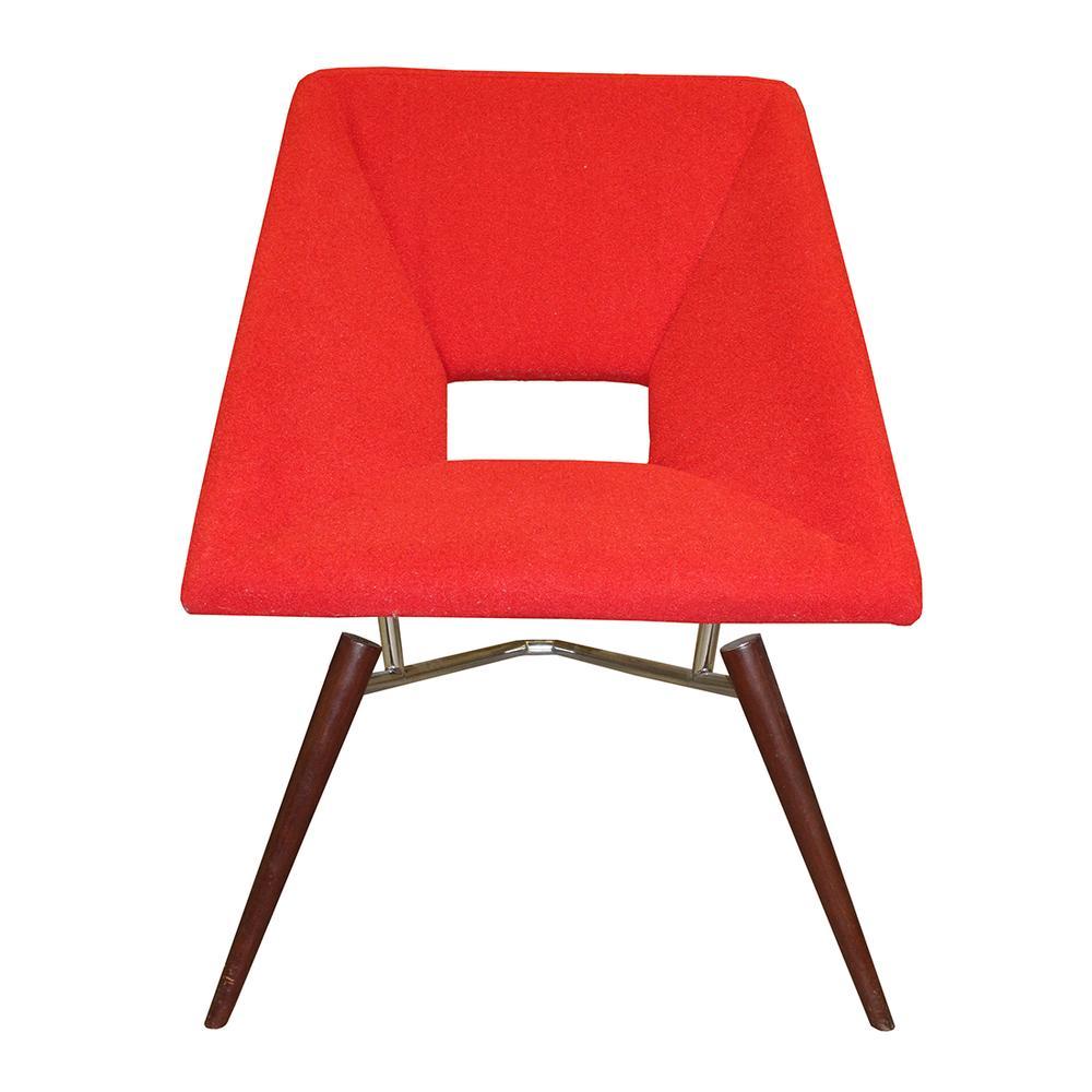 Modern Red Pin Leg Chair