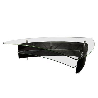 Modern Glass Top Boomerang Coffee Table