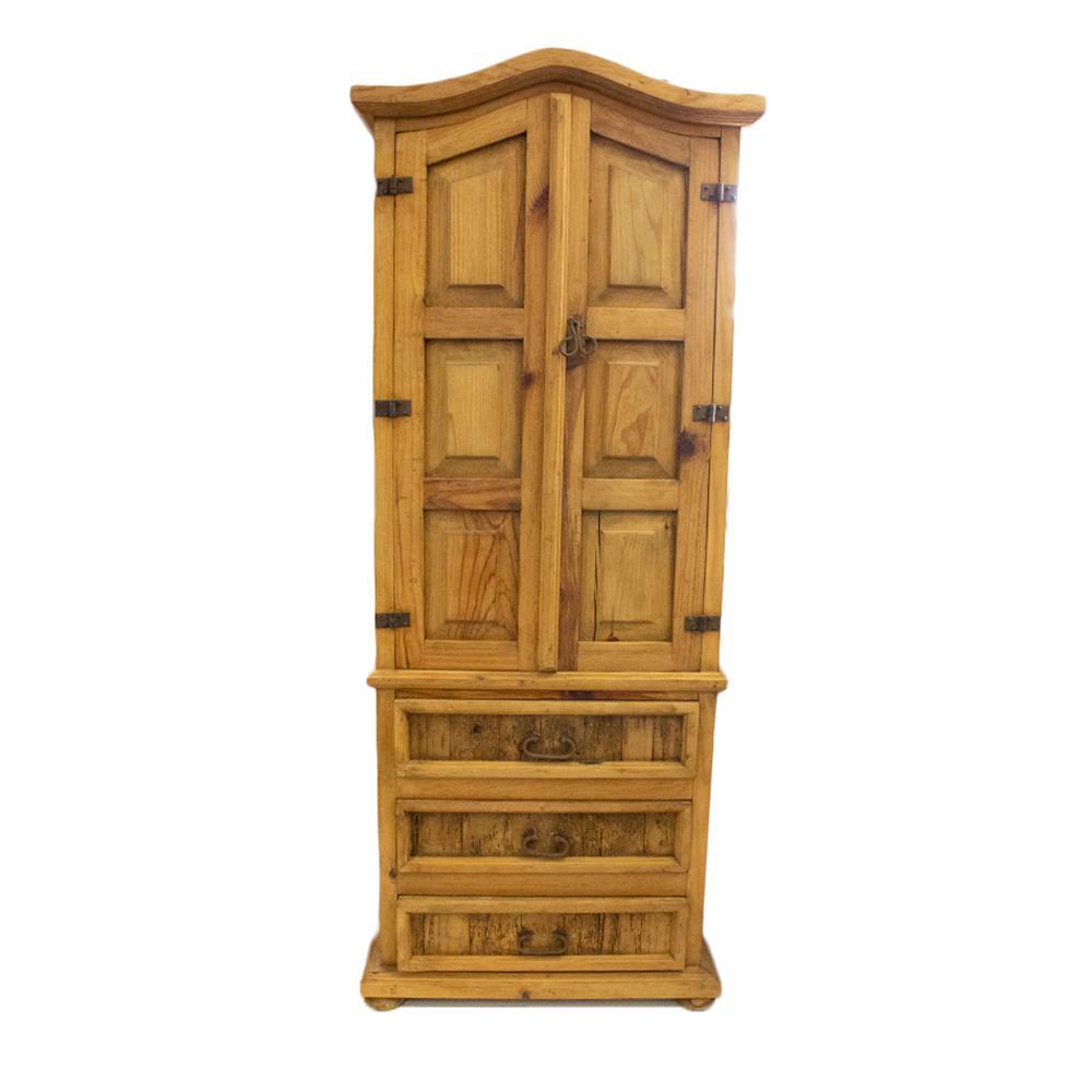 3 Drawer Pine Wine Cabinet