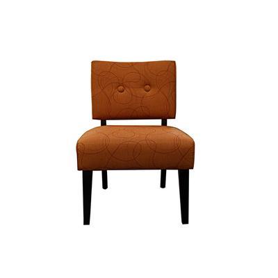Crate & Barrel Orange Chair