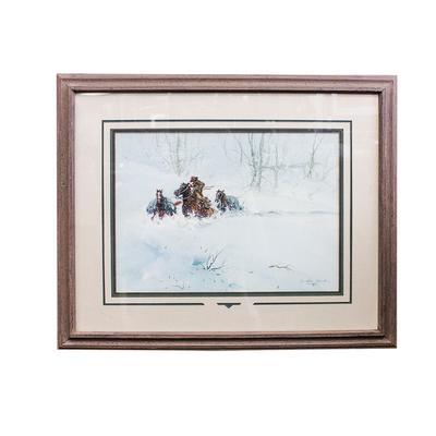 Austin Deuel Winter Cowboy Art Print