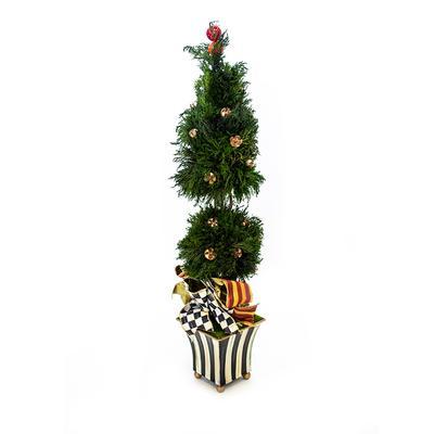 MacKenzie-Childs Courtly Stripe Cypress Topiary