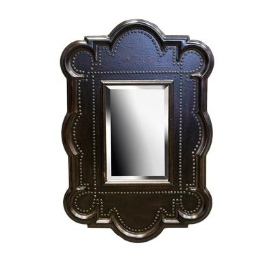 Faux Leather Nailhead Trim Mirror