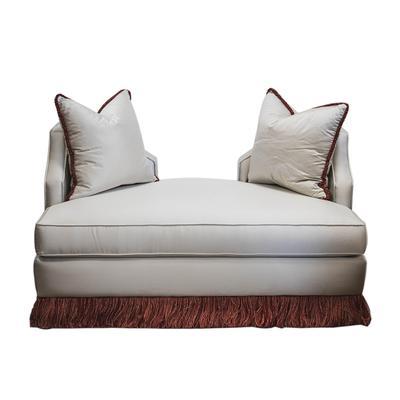 Parapet Silk Fabric Sofa