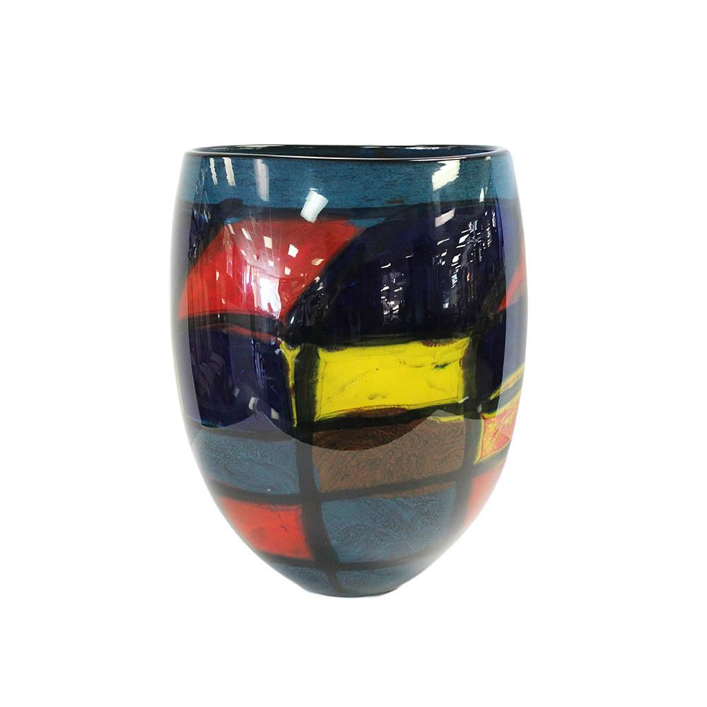 Large Modern Multi Colored Glass Vase