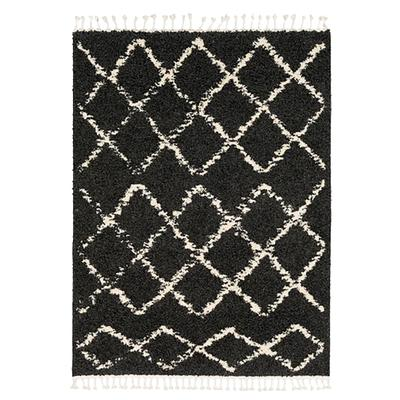 Charcoal Berber Shag Rug