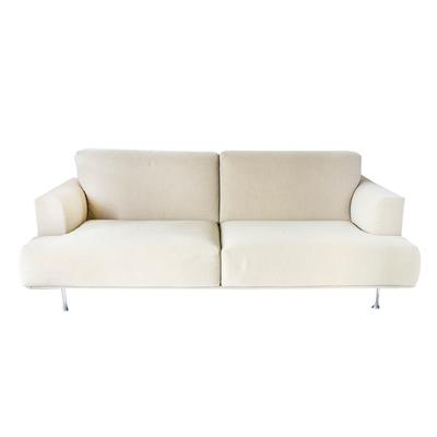 Cassina Tan Sofa with Metal Detail