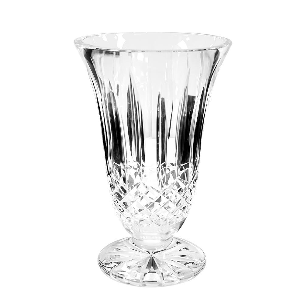 Lismore Claret Waterford Crystal 10in Footed Vase