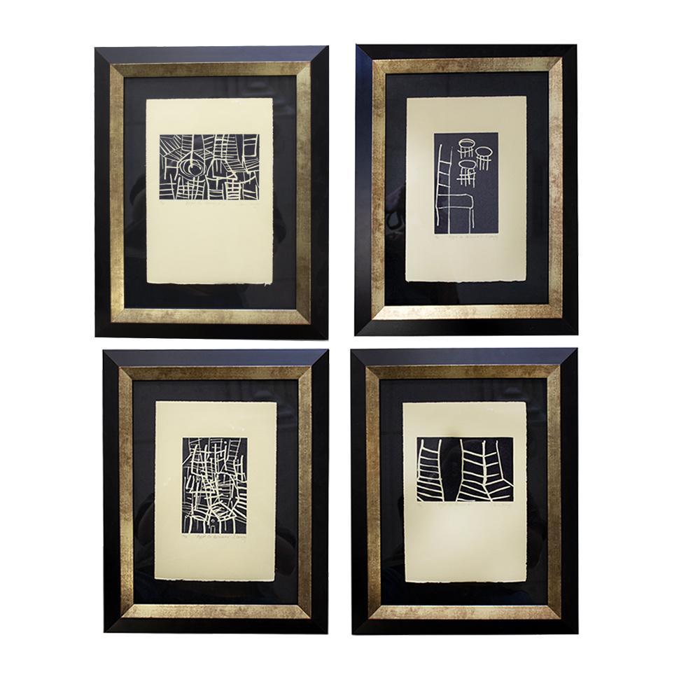 Claire Lemay Set Of Four Art Pieces