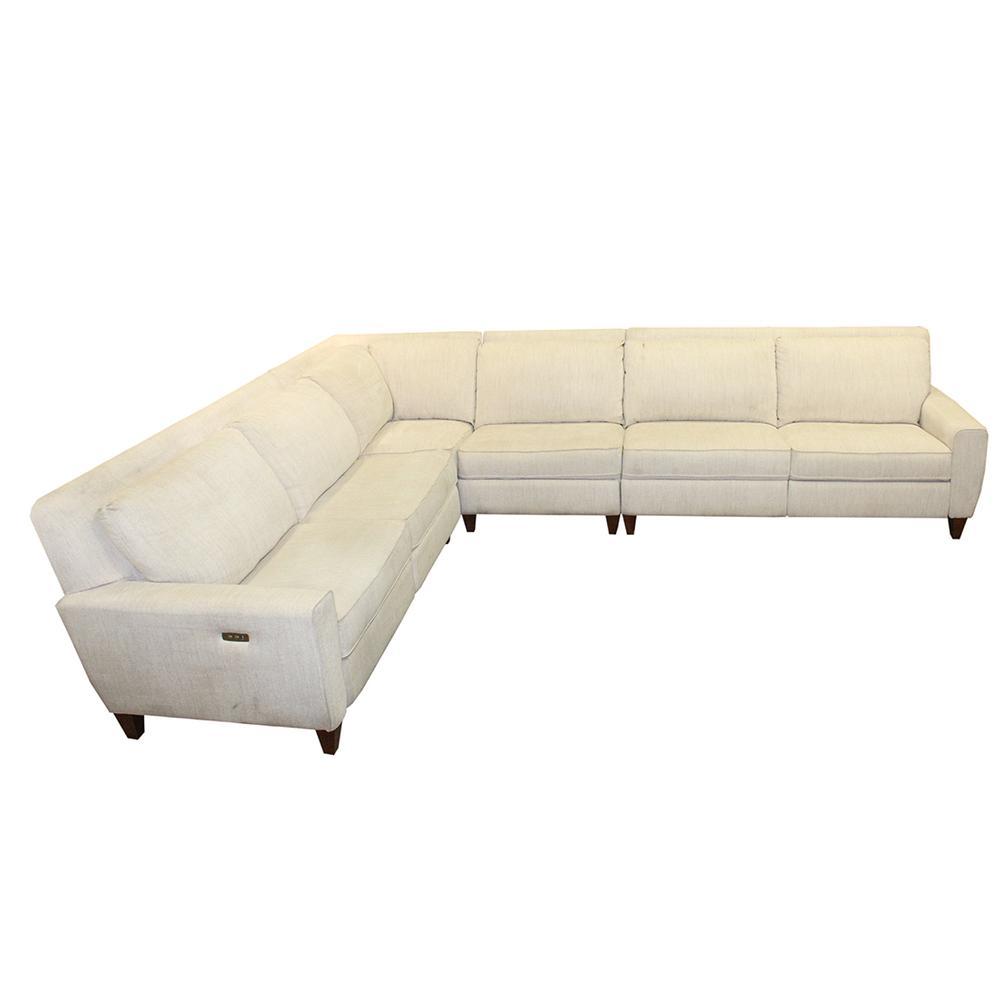 La- Z- Boy Cream Edie Four Piece Sectional Sofa Off White